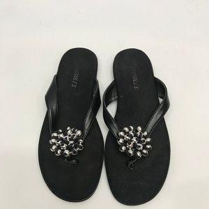 Aerosoles Black Slip on Sandals sz 6.5